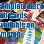 Complete List of Gift Cards Available on Amazon