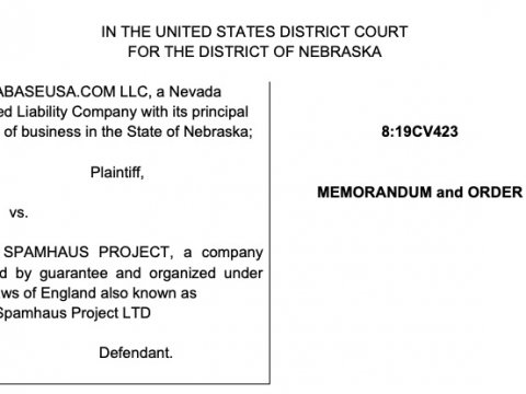 DatabaseUSA Wins Case against Spamhaus in Matter of DatabaseUSA v. Spamhaus in Federal Court