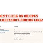 Don't Click On or Open Screenshot[.]photos Links!