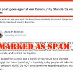 Facebook Bug Causing Legitimate Posts to be Marked as Spam