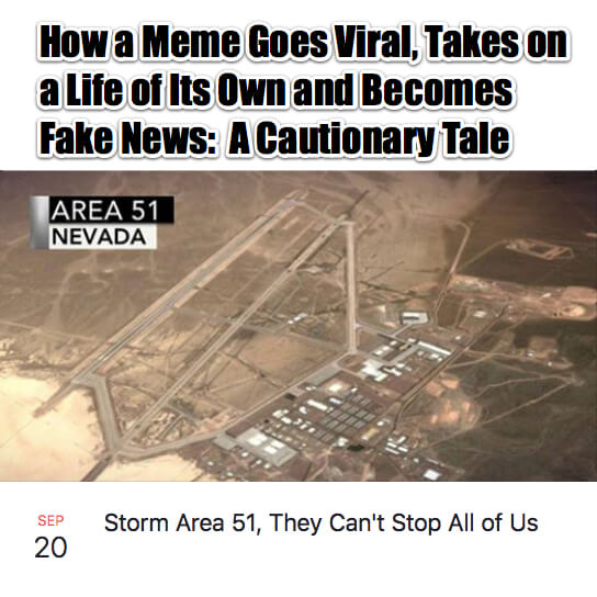 How a Meme Goes Viral Takes on a Life of Its Own and Becomes Fake News