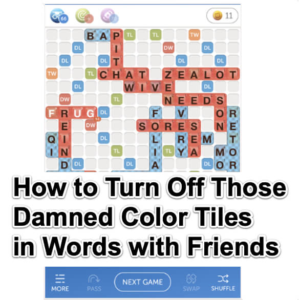 How to Turn Off Those Damned Color Tiles on Words with Friends