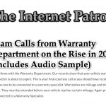 Scam Calls from Warranty Department on the Rise in 2020 (Includes Audio Sample)