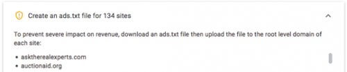 To prevent severe impact on revenue, download an ads.txt file then upload the file to the root level domain of each site