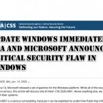 Update Windows Immediately! NSA and Microsoft Announce Critical Security Flaw in Windows