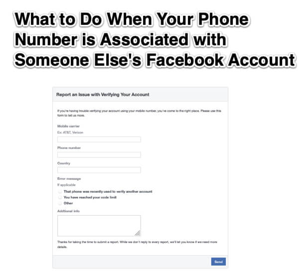 What to Do When Your Phone Number is Associated with Someone Else_s Facebook Account
