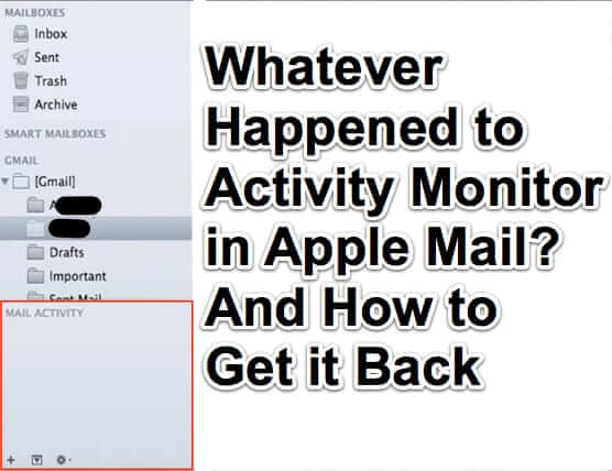 activity monitor apple mail