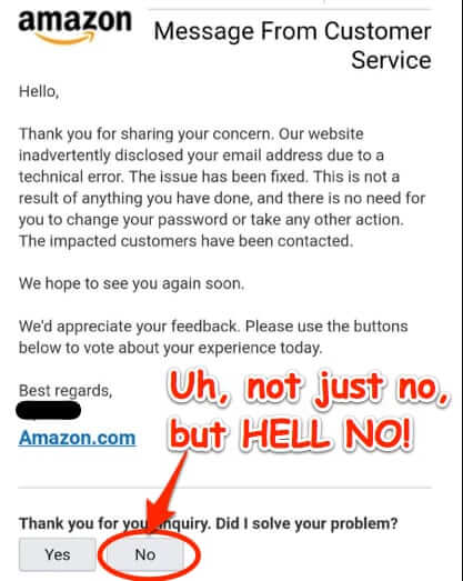 amazon data leak rate did I solve your problem