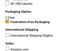 amazon frustration free packaging option