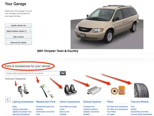 amazon garage parts for your car