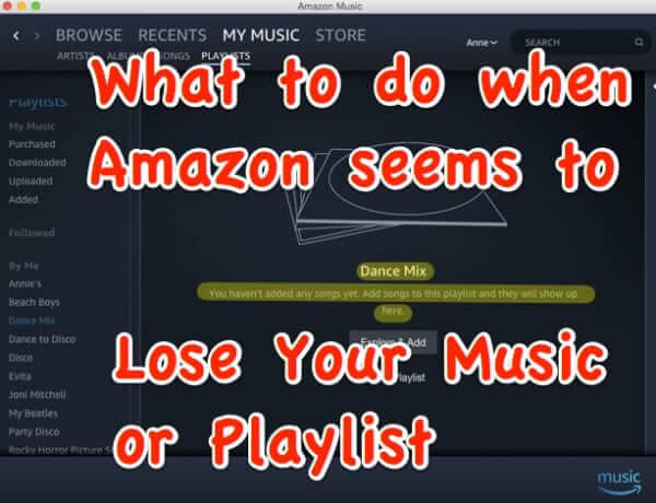 amazon music playlist missing blank