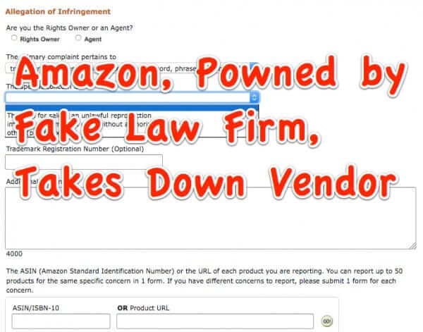 amazon powned allegation of infringement form