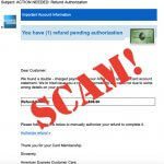 Do NOT Open the American Express Refund Authorization Email!