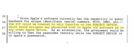apple fbi footnote 4 page 8 subject device only featured image