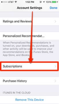 apple id subscriptions