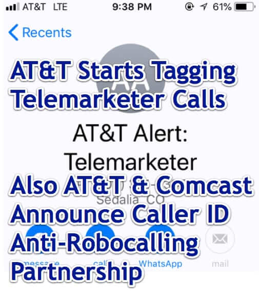 att telemarketers alert comcast anti robocalling partnership
