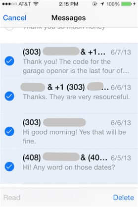 bulk delete iphone messages