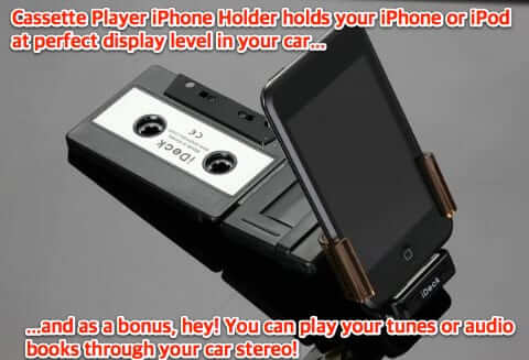 car cassette player iphone holder-1