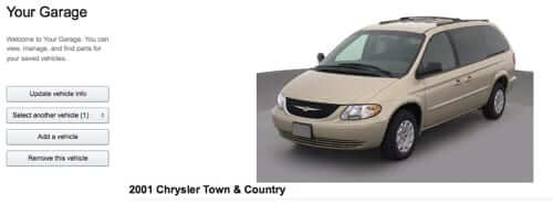 chrysler town and country added to amazon garage