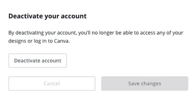 deactivate canva account