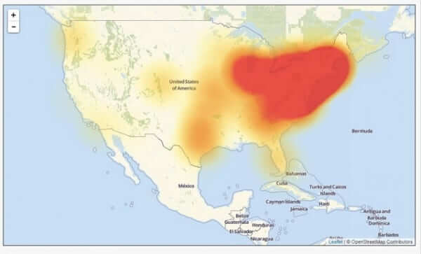 dyn ddos outage map level 3