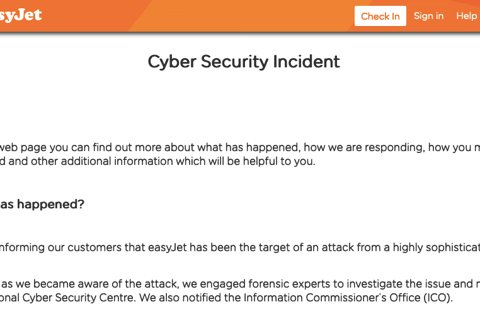 easyjet hacked may 2020