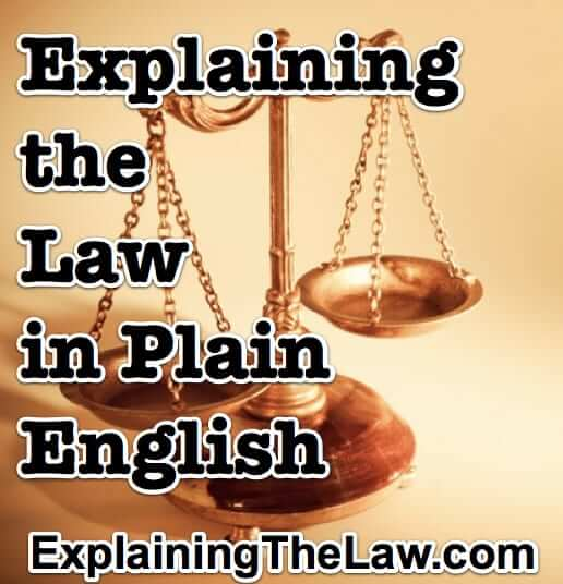 explaining the law in plain english