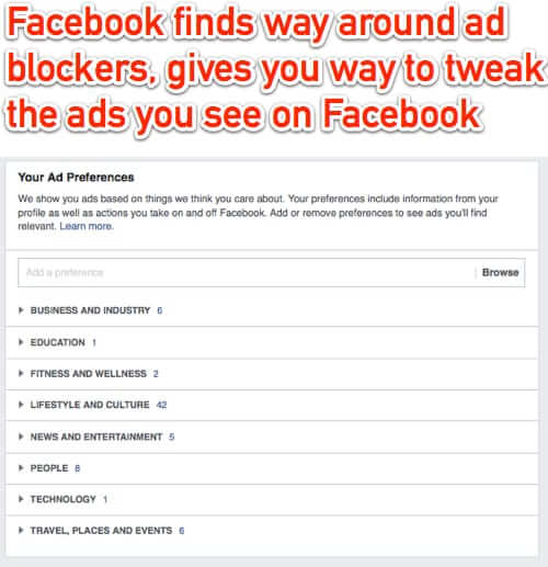facebook adblockers ad preferences