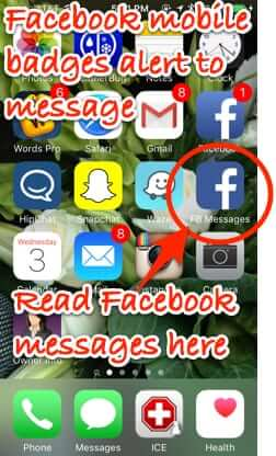 facebook messages shortcut on home screen