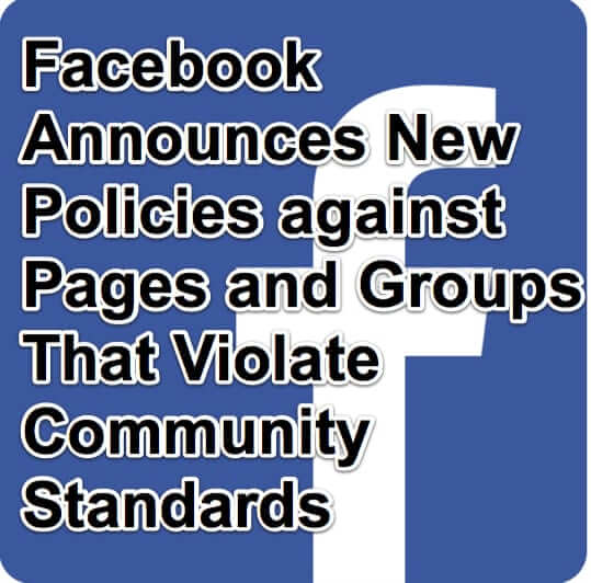 facebook pages groups community standards policy policies