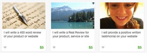 fake reviews amazon fiverr