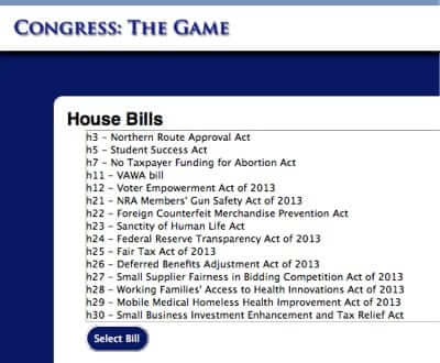 Online Fantasy Congress Game Allows You to Pick Your Ideal Congress