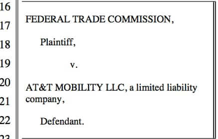 federal trade commission ftc lawsuit against at and t