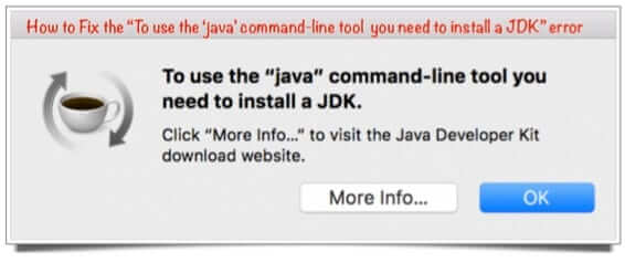 fix java command-line error mac