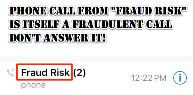 fraud risk phone call