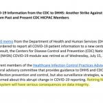 Full Text of Statement from HICPAC Experts Regarding Diverting COVID-19 Data from the CDC