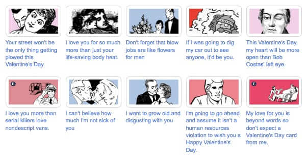 funny valentines cards at someecards
