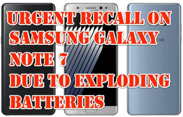 galaxy note 7 battery recall