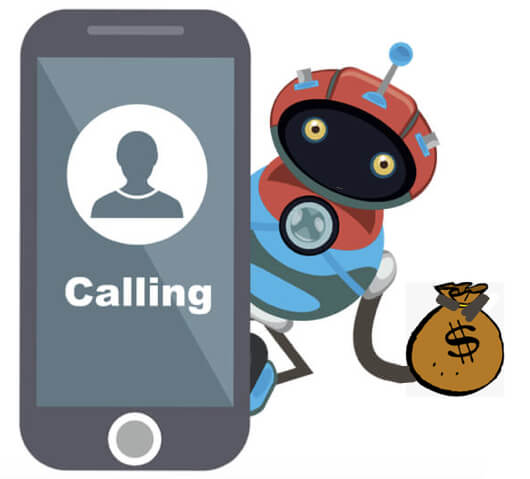 get cash from robocallers