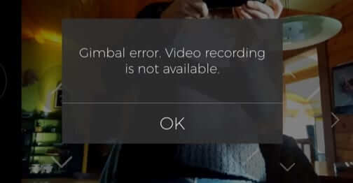 gimbal error get hover passport camera drone