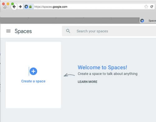 google spaces home create new google space