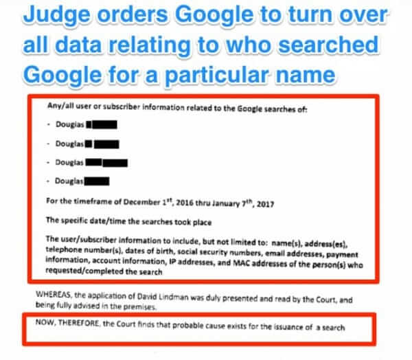 google search warrant douglas edina minnesota