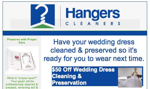 hangers cleaners wedding dress next time