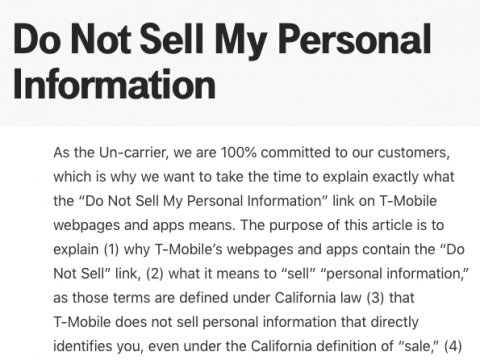 here is what do not sell my personal information is about