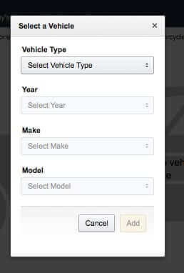 how to add a vehicle to your amazon garage blank form