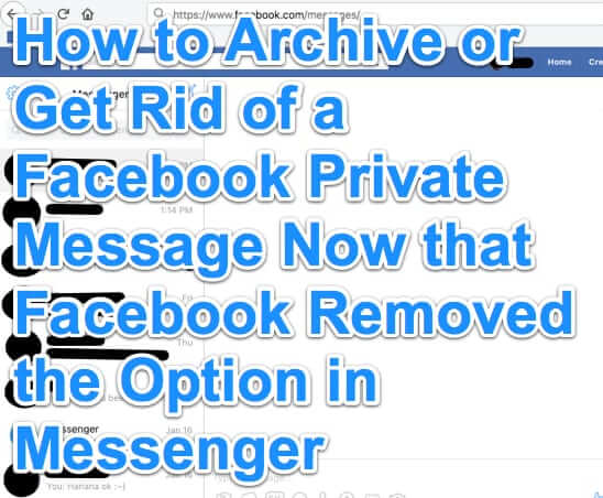 how to archive remove private messages facebook