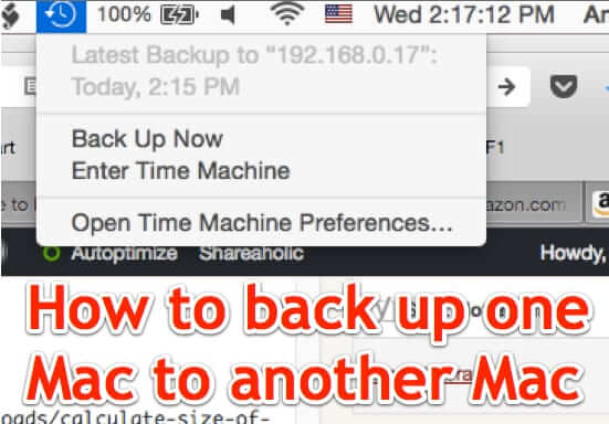 how to back up one mac to another mac