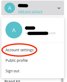 how to cancel canva account settings