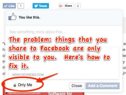 how to change the privacy settings on things you share to facebook from other site