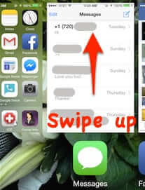 how to close iphone app application swipe up